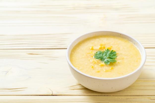 Corn soup bowl