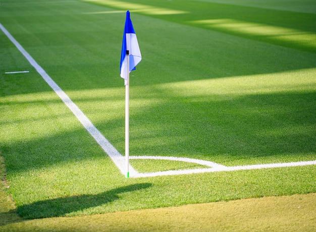 Corner flag in a spanish stadium