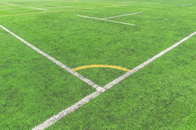 Corner of a football court