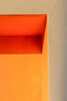 Corner of an orange wall low view