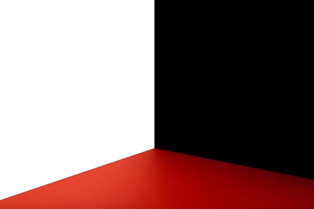 Corner of room in three colors
