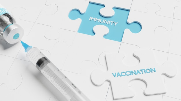 コロナウイルスアウトブレイク。エピデミックウイルス対策の概念。 3dレンダリング