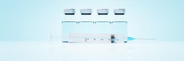 코로나 바이러스 발생. 전염병 바이러스 보호 개념. 3d 렌더링