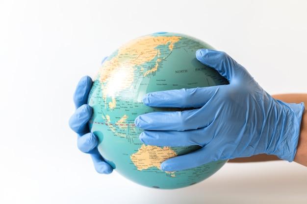 Coronavirus 2019-ncov. concept protect the world