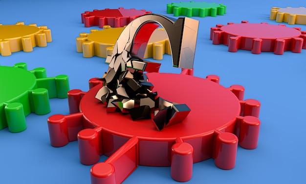 Коронавирус и символ евро 3d-рендеринга. концепция экономического кризиса covid-19