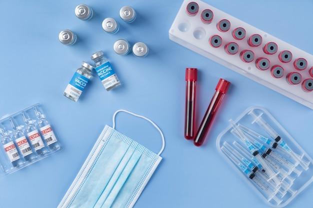 혈액 샘플 및 백신을 사용한 코로나바이러스 배열