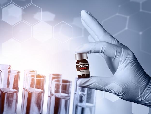 Coronavirus covid-19 medical test vaccine research and development concept