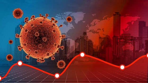Coronavirus disease covid19 infection medical  coronavirus disease 2019 covid19 city and graph