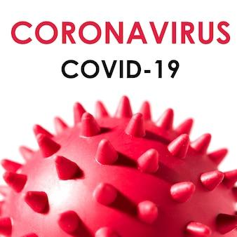 흰색 배경에 coronavirus