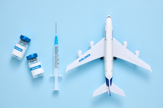 Coronavirus vaccination certificate or vaccine passport for travellers concept