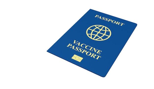 Документ о вакцинации против коронавируса паспорт covid 19 на белом фоне