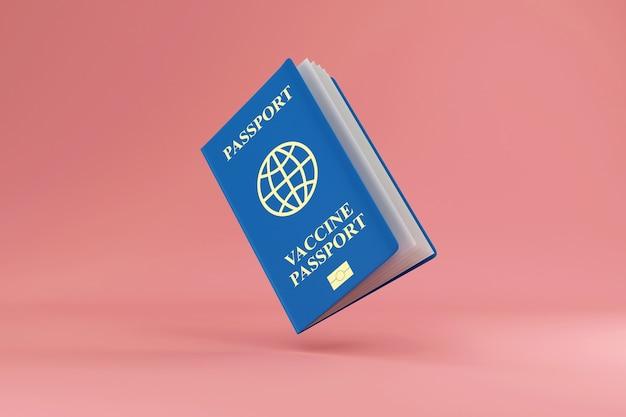 Документ о вакцинации против коронавируса паспорт covid19 на розовом студийном фоне