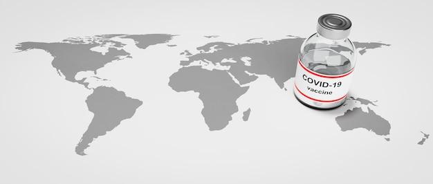 Coronavirus vaccine global availability illustration