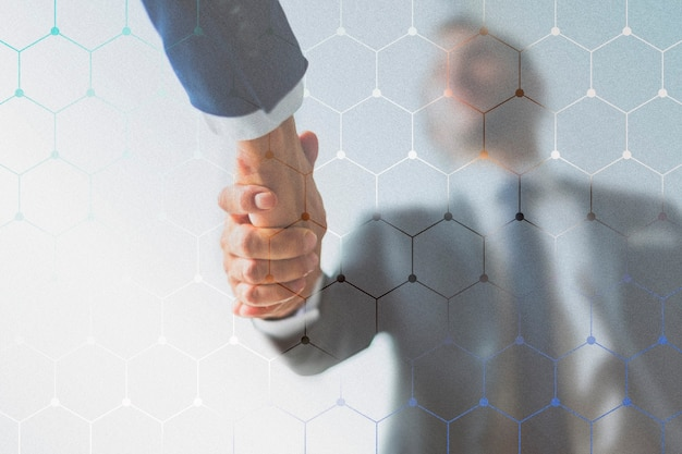 Corporate business handshake between partners
