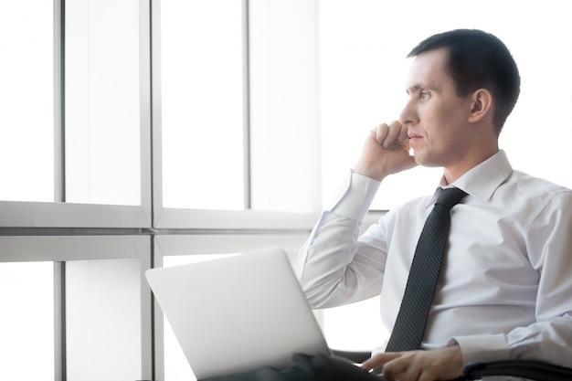 Corporate businessman on phone