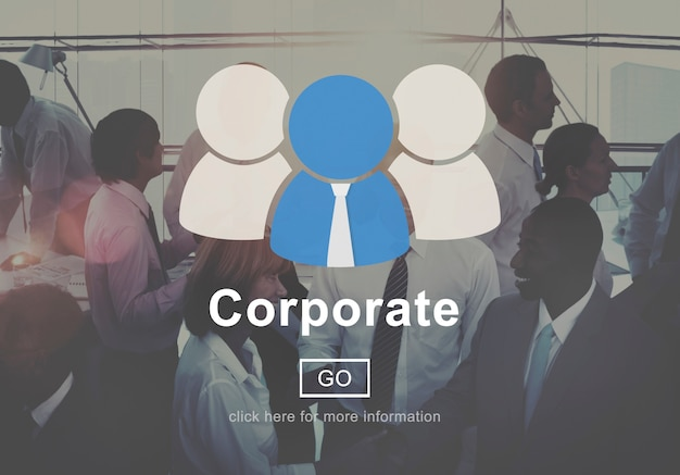 Corporate connection collaboration teamwork support concept