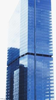 金融街にある企業のオフィスビル、ダウンタウンの商業用不動産の近代的な超高層ビル...