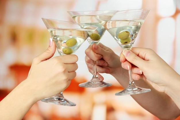 コーポレートパーティーマティーニグラス