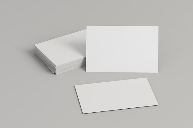 Corporate stationery blank business cards front view
