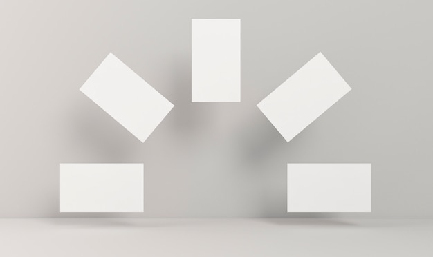 虹の形をした企業の文房具の空白の名刺