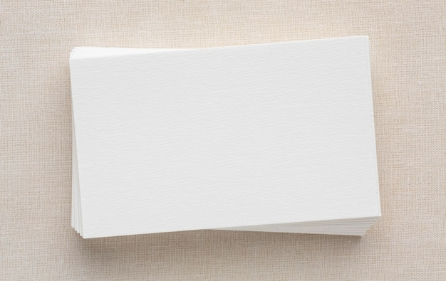 企業の文房具の空白の名刺