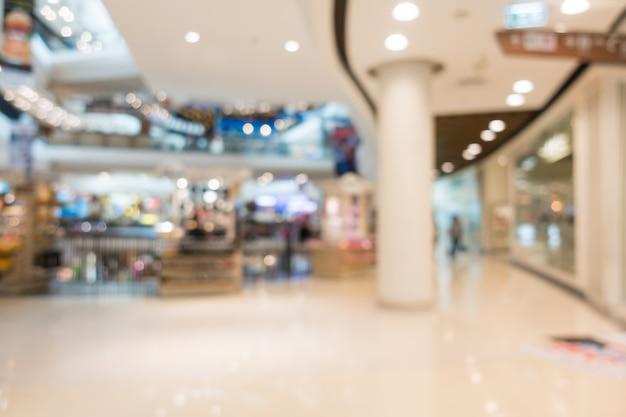 Corridor of mall unfocused