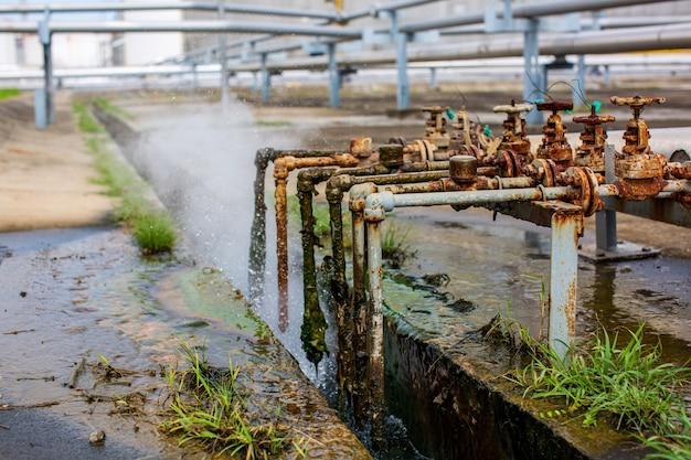 パイプラインでのバルブチューブ蒸気ガス漏れによる腐食さび