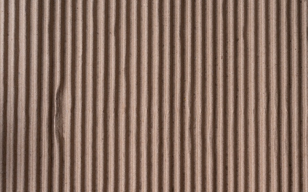 Corrugated brown cardboard sheet of paper texture