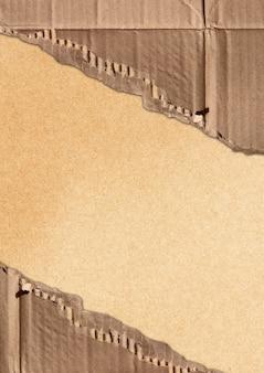 Corrugated cardboard teared apart