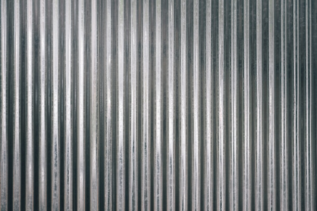 Corrugated galvanized sheet texture background with light from above