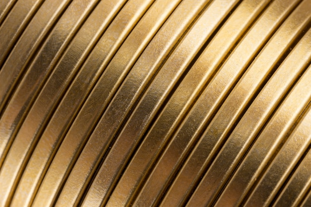 Corrugated gold metal texture background