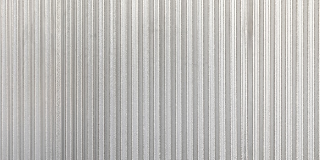 The corrugated grey metal panorama wall background. rusty zinc grunge texture and background.