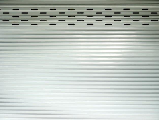 Corrugated metal sheet,white slide door, roller shutter texture