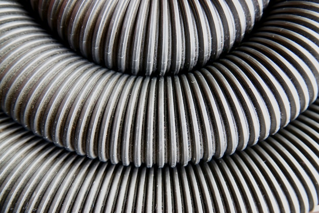 Corrugated pipe abstract background