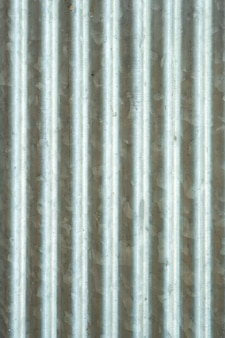 Corrugated zinc surface that does not remove impurities.the actual surface of the zinc used.