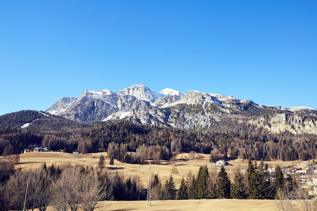 Cortina d'ampezzo mountains