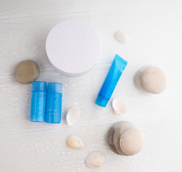 Cosmetic bottle containers with water drop