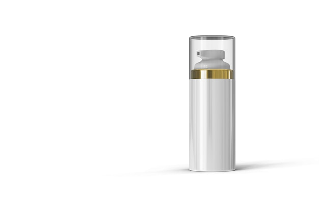 Cosmetic bottle package 3d rendering isolated