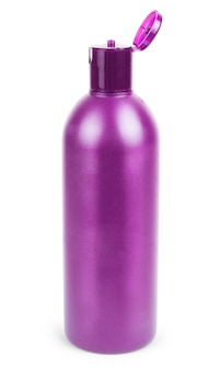 Cosmetic bottles on white background. cosmetic cream containers and tubes for cream, lotion, shampoo, gel, balsam, conditioner, spray