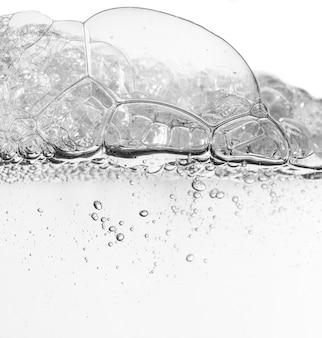 물 질감의 화장품 클렌징 그레이 폼 젤