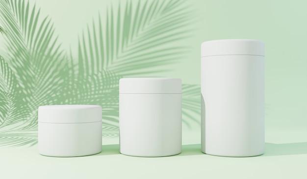 Cosmetic mockups 3d render
