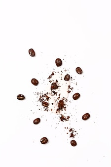 Cosmetic natural concept natural ecofriendly homemade coffee scrub for face and body