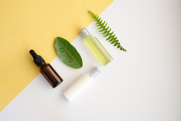 Cosmetic nature skincare and essential oil aromatherapy .