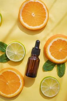 Косметическое масло и цитрусовые. косметические процедуры. здоровая кожа. уход за кожей.