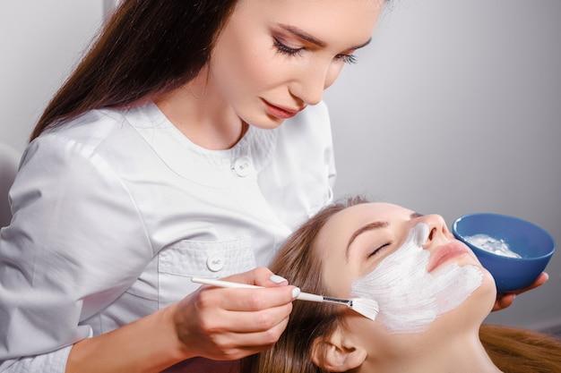 Cosmetic procedure at beauty salon