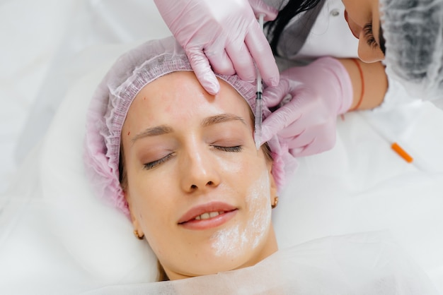 Cosmetic procedure for biorevitalization and removal of wrinkles for woman