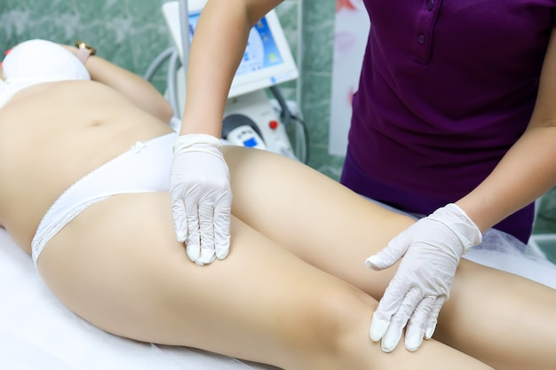 Cosmetic procedure for removing unwanted cellulite by massage