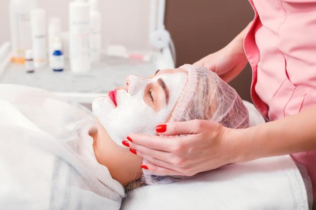 Cosmetic procedure in spa salon.
