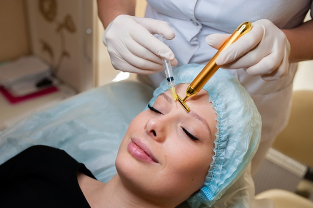 Cosmetic procedures, injections for the face.