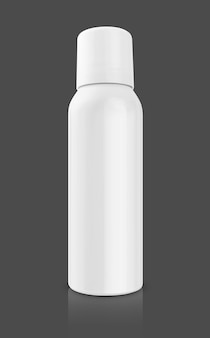 Cosmetic product in an aluminum spray bottle